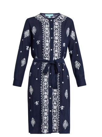 dress embroidered dress embroidered fleur navy white
