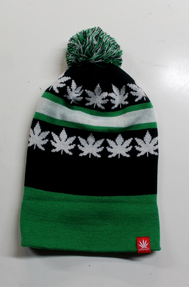 Stonerdays kush knit beanie green