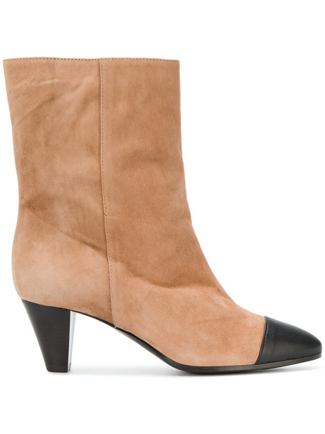 VIA ROMA 15 women leather nude suede shoes