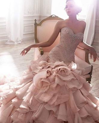 dress rose pink pink dress elegant elegant dress long dress pearl pearl dress mermaid prom dress mermaid dresses