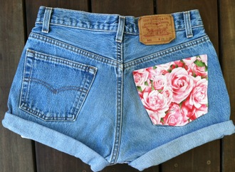 shorts high waisted shorts denim vintage levis