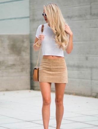skirt suede skirt short skirt suede