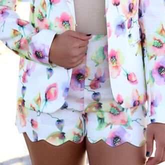 shorts floral scallops scalloped shorts spring amazinglace.com amazinglace
