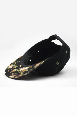 hat floral cap swag tumblr floral vintage flowers mens accessories