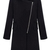 ROMWE | Lapel Zippered Black Coat, The Latest Street Fashion