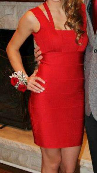 dress red dress bandage dress armani exchange cool back