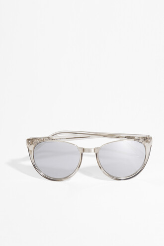 sunglasses gold white