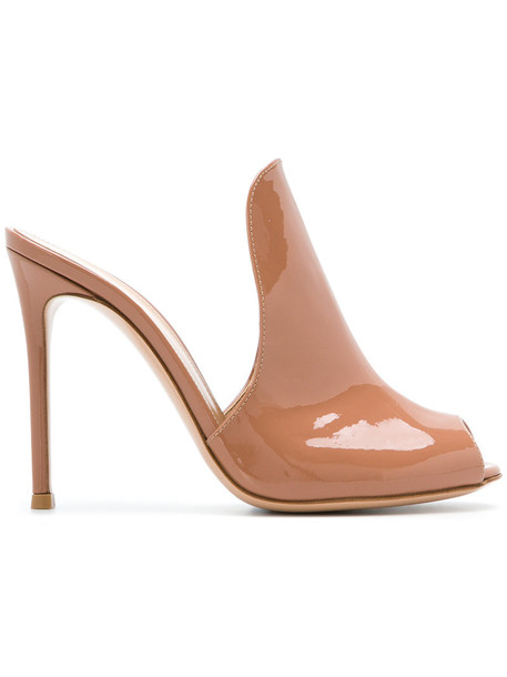 Gianvito Rossi women pumps leather nude shoes
