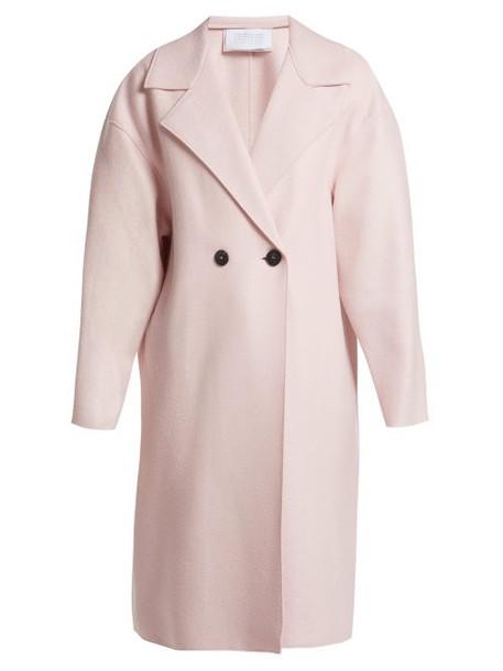 Harris Wharf London - Dropped Shoulder Pressed Wool Coat - Womens - Light Pink