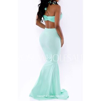 dress outfit mint mermaid