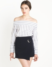 top,stripe top,pixiemarket,cute top,summer outfits,girly,trendy,chic,off the shoulder top,off the shoulder