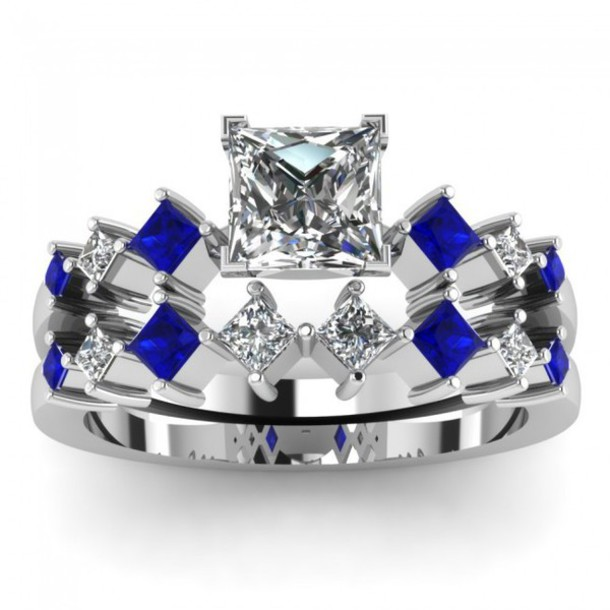 Awesome Diamond And Sapphire Wedding Ring Sets Ideas Styles