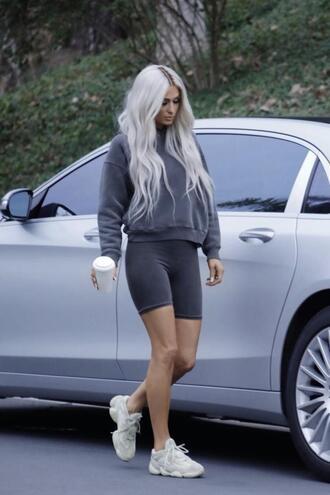 sweater hoodie sweatshirt shorts paris hilton sneakers