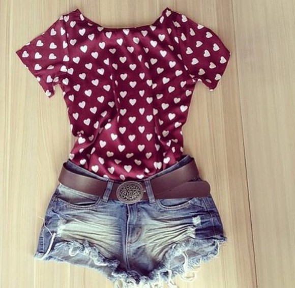 heart blouse hearts blouse