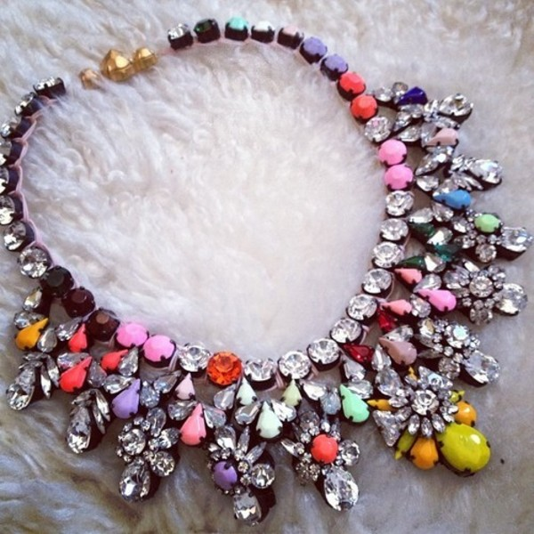 jewels necklace colorful jewelry