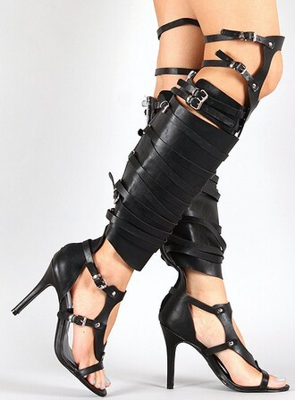 shoes studded gladiators black gladiators knee high gladiator sandals high heels stilettos
