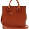 Albion square leather tote bag