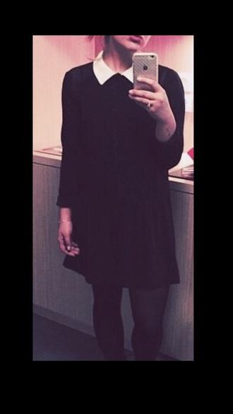 dress collared dress collar black dress black and white dress style