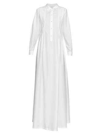 gown cotton white dress