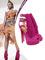 Beyonce heels pink suede leather peep toe layered tassels vamp red bottom ankle buckle closure platform sandals 140 mm covered heels