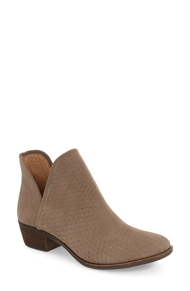 Lucky Brand 'Bashina' Perforated Bootie (Women) | Nordstrom