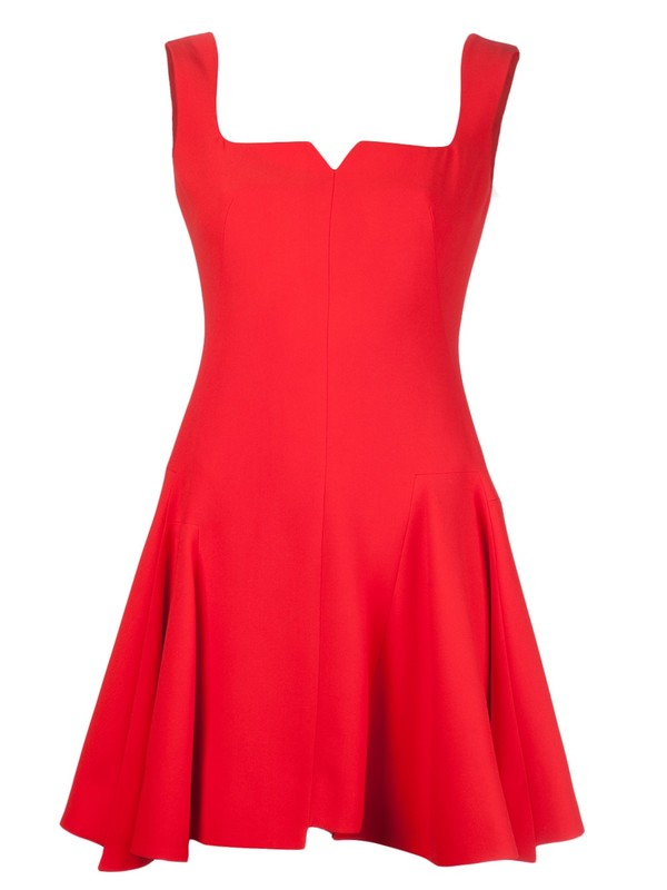 dress alexander mcqueen red dress