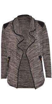 cardigan,women tie dye full sleeve zip pocket style waterfall cardian