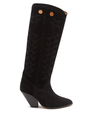 western boots boots suede black shoes