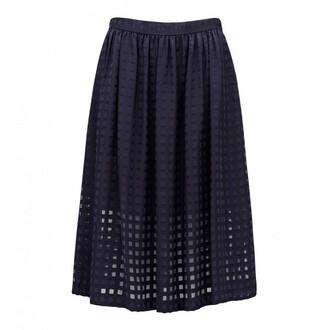 skirt sheer forevernew navy calliechecksheerskirt