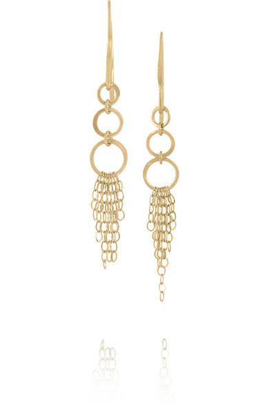 Karat gold drop earrings
