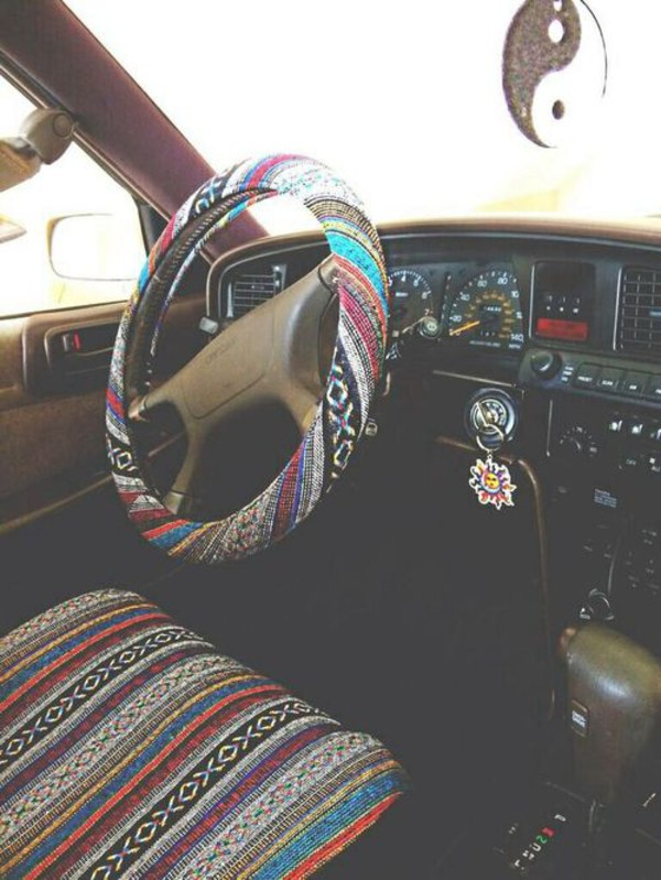 Walmart bell steering wheel cover baja blanket for Diy car interior decor