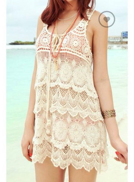 top sleeveless dress sleeveless top lace dress lace swimwear lace top smock dress