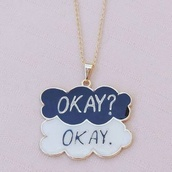 jewels,necklace,clouds,the fault in our stars,jewelry,tfios necklace,augustus waters,john green
