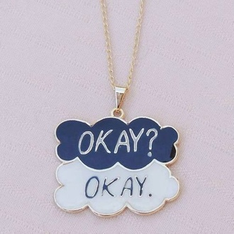 jewels necklace clouds the fault in our stars jewelry tfios necklace augustus waters john green