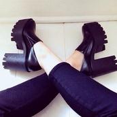 shoes,platform shoes,black platform boot,jeffrey campbell