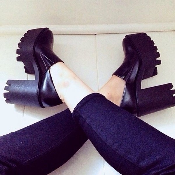 shoes platform shoes black platform boot jeffrey campbell