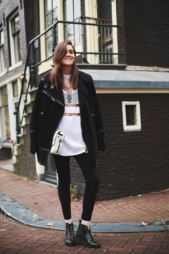style scrapbook blogger top jeans jacket see through alexander wang clutch black and white