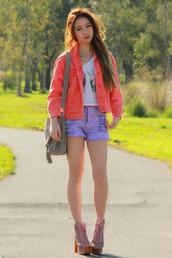 chloe ting,bag,shoes,jacket,t-shirt,shorts,jewels
