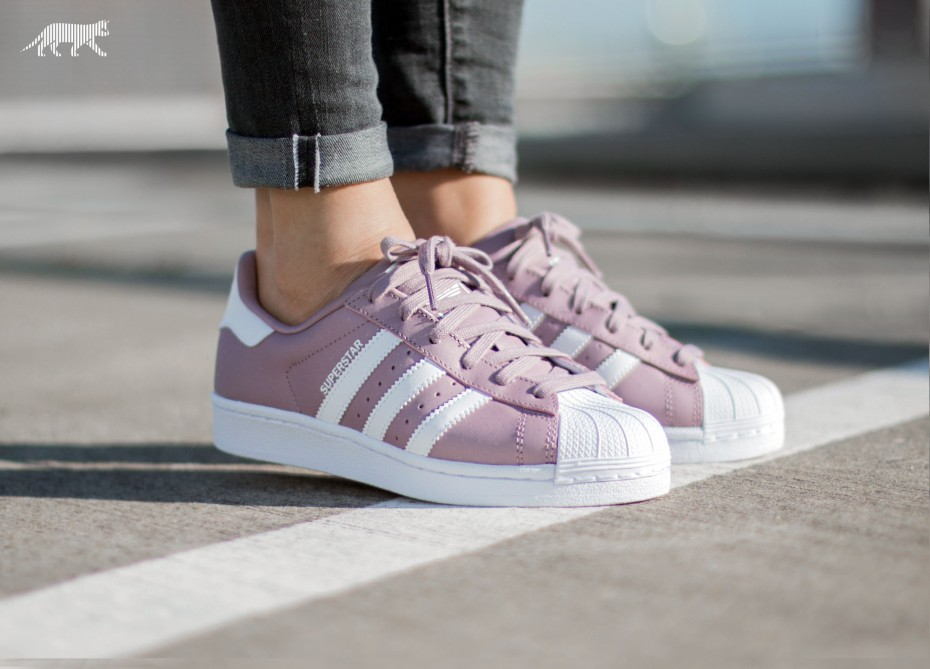 adidas superstar w blanche et rose
