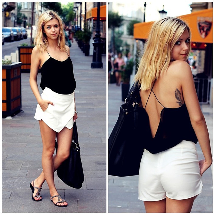 Hot Women Skorts Asymmetric Tiered Culottes Shorts with Invisible Zipper O   eBay