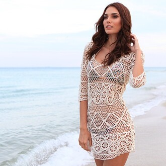 dress bikini luxe gypsy beach coverup cover up beach gypsy bikini coverup bikini swimwear fashion sun tanning miami miami beach ocean water girl gorgeous