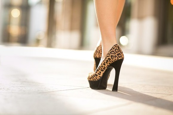 shoes leopard print