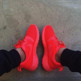 shoes nike nike roshe run red