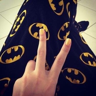 pajamas batman yellow black pants