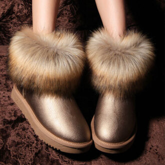 shoes boots warm flat sweet