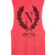 Neon Coral Muscle tee with black New York Print
