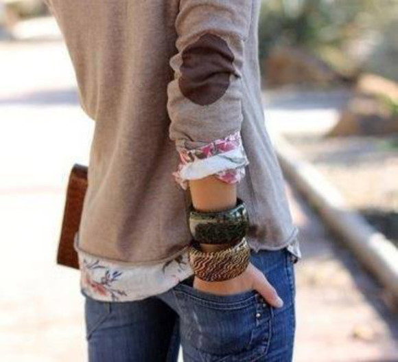 sweater gray brown elbow patches elbow grey jewels patch tan circle pad cardigan buttons