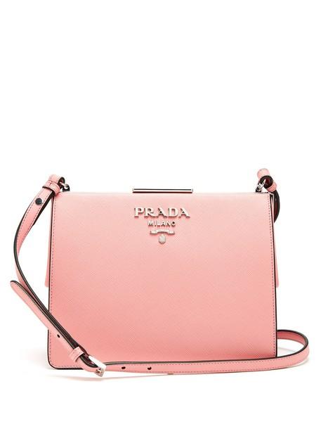 Prada bag leather bag leather pink
