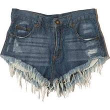 Frayed Distressed Reverse Destroyed Cutoffs Denim One Teaspoon Style Shorts NWOT