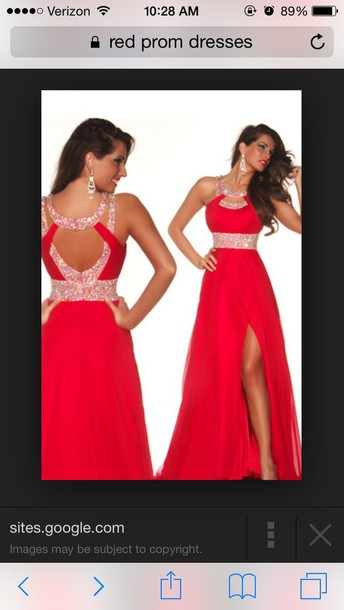 dress red dress long prom dress